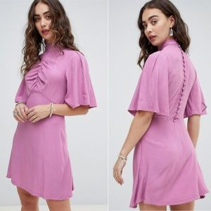Free People Be My Baby Solid Mockneck Mini Dress